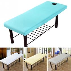 Massage Bed Sheet Solid Couch Forepart Hole Polyester Elastic All-round Wrap Massage bed cover 80cm