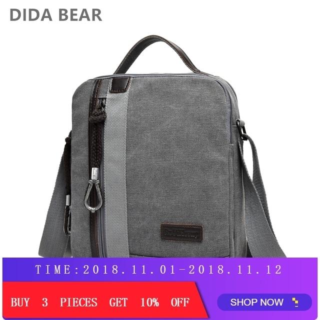 e4dc51d56 New Men Crossbody Shoulder Bags Male Canvas Messenger Bags Boy Small  Satchels for Travel Casual High