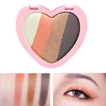 four-color Sweet Heart Glitter Eyes Makeup Eyeshadow Shade Shimmer Shine Powder Eye Shadow