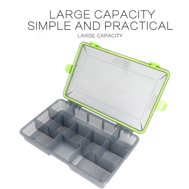 Image 4 - Compartments Waterproof Fishing Tackle Storage Box Multifunctional Eco Friendly Plastic Fishing Lure Tackle Pocket Bait Boxs-in Fishing Tackle Boxes from Sports & Entertainment