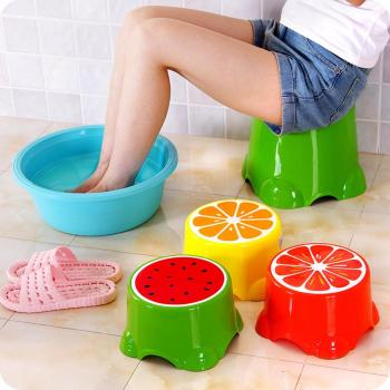 4 Colors Thicken Lovely Stools Fruit Pattern Living Room Non-slip Bath Bench Child Stool Changing Shoes Stool Children creative