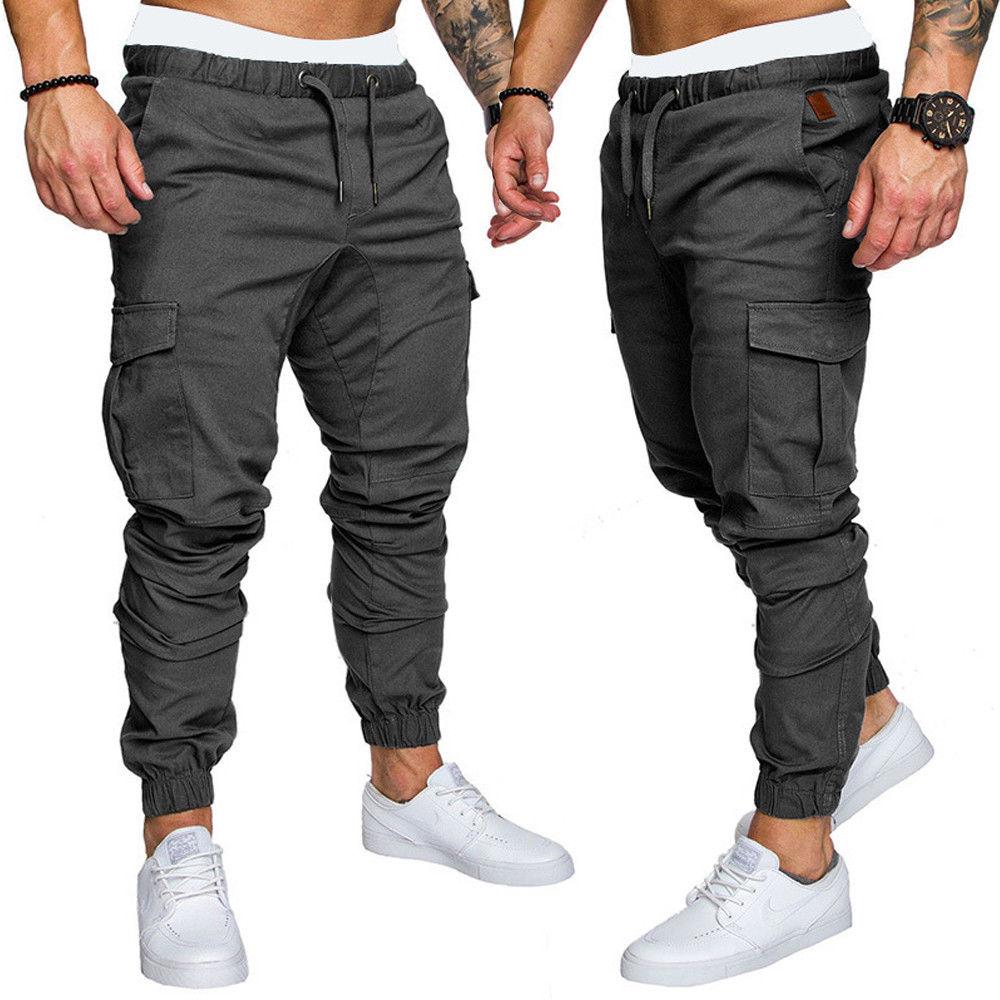 Nuevo Estilo De 2018 De Sarga De Moda Para Hombre Pantalones Para Correr Pantalones Urbanos De Hip Hop Harem Pantalones Informales De Bolsillo Solidos Ajustados Elasticos Pantalones Ajustados Aliexpress