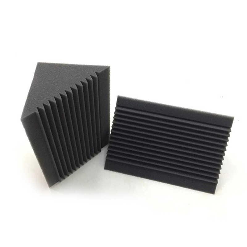 6 PCS Acoustic Foam Charcoal/Black Bass Trap Sound Absorption Studio Soundproofing Corner Wall 12 x 12 x 24 cm