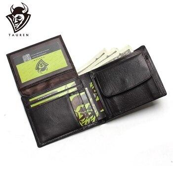 цена на Small Vintage Wallet Brand High Quality Vintage Designer 100% Genuine Crazy Horse Cowhide Leather Men Short Coin Purse Wallet