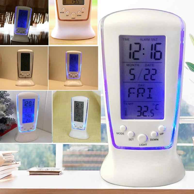 Calendar Alarm Clocks Modern Date Time Music Temperature Digital Display Desktop Backlight Desk Table Suppliers Drop Shipping