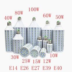 Bombill LED Lamp 30W 40W 50W 60W 80W 100W 5730 SMD E27 E40 E26 B22 110V 220V Corn Bulb Pendant Lighting Chandelier Ceiling Light