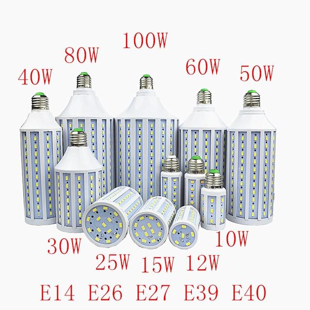 Lampada 30W 40W 50W 60W 80W 100W LED Lamp 5730 SMD E27 E40 E26 B22 110V 220V Corn Bulb Pendant Lighting Chandelier Ceiling Light