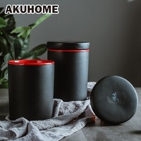 Ceramic Storage Box Sealed Bottle Storage Jar Whole Grains Storage Box Kitchen Storage Jar Food Sealed Cans AKUHOME