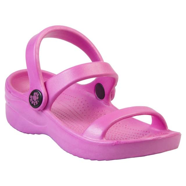 Kids' DAWGS 3-Strap Sandals - Hot Pink