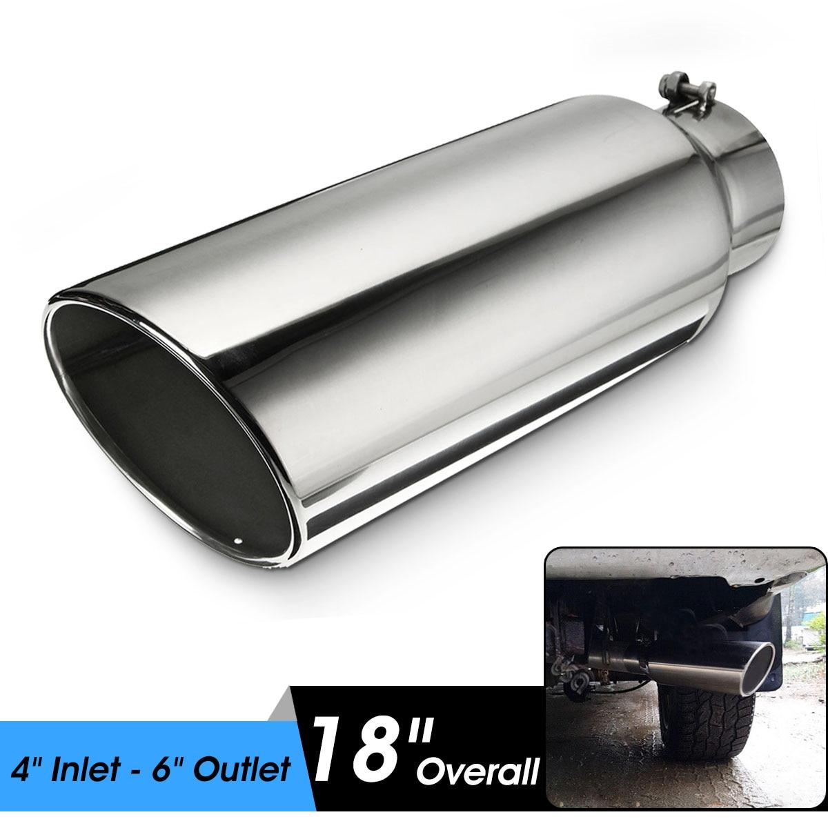 Pot d'échappement universel pour voiture 10 cm entrée 15 cm embout d'échappement en acier inoxydable Tube arrière