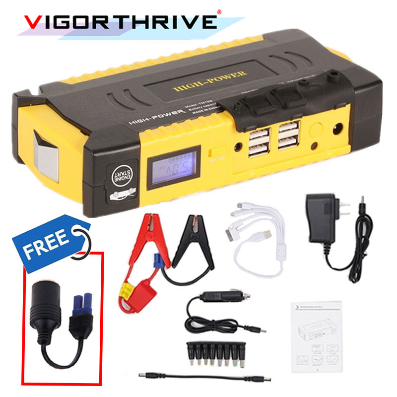 Car Jump Starter Mini Portable Emergency Battery Charger Power bank SOS light Auto Booster For Petrol Car Starting Device 12V