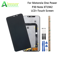 Alesser For Motorola One Power LCD Display And Touch Screen Screen Digitizer Assembly For Motorola P30 Note XT1942 LCD + Tools