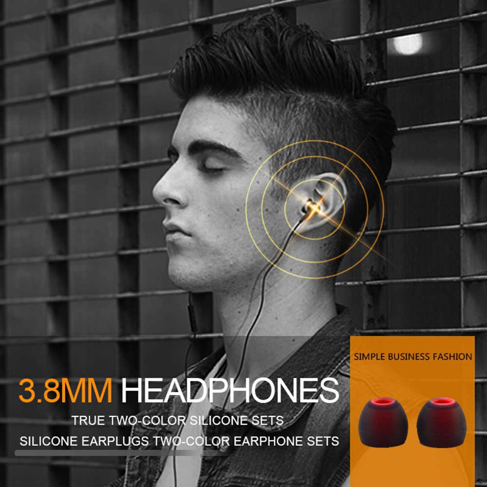 6 Pairs 12 قطعة 3.8 مللي متر لينة سيليكون في الأذن سماعة يغطي ياربود نصائح سماعات الأذن مزدوجة اللون بطانة للأذن وسادة ل سماعات