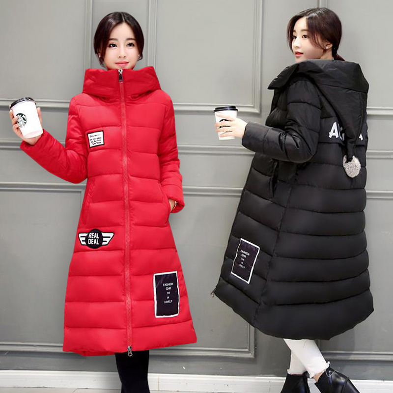 2018 Winter Pregnancy Clothes Long Coat Cotton Clothes Girls Jacket Maternity Autumn Down Plus Size M/L/XL/2XL/3XL Hooded Top winter jacket women cotton wadded jacket parkas female warm cotton coat long overcoat hoodies plus size m 3xl campera mz1890g