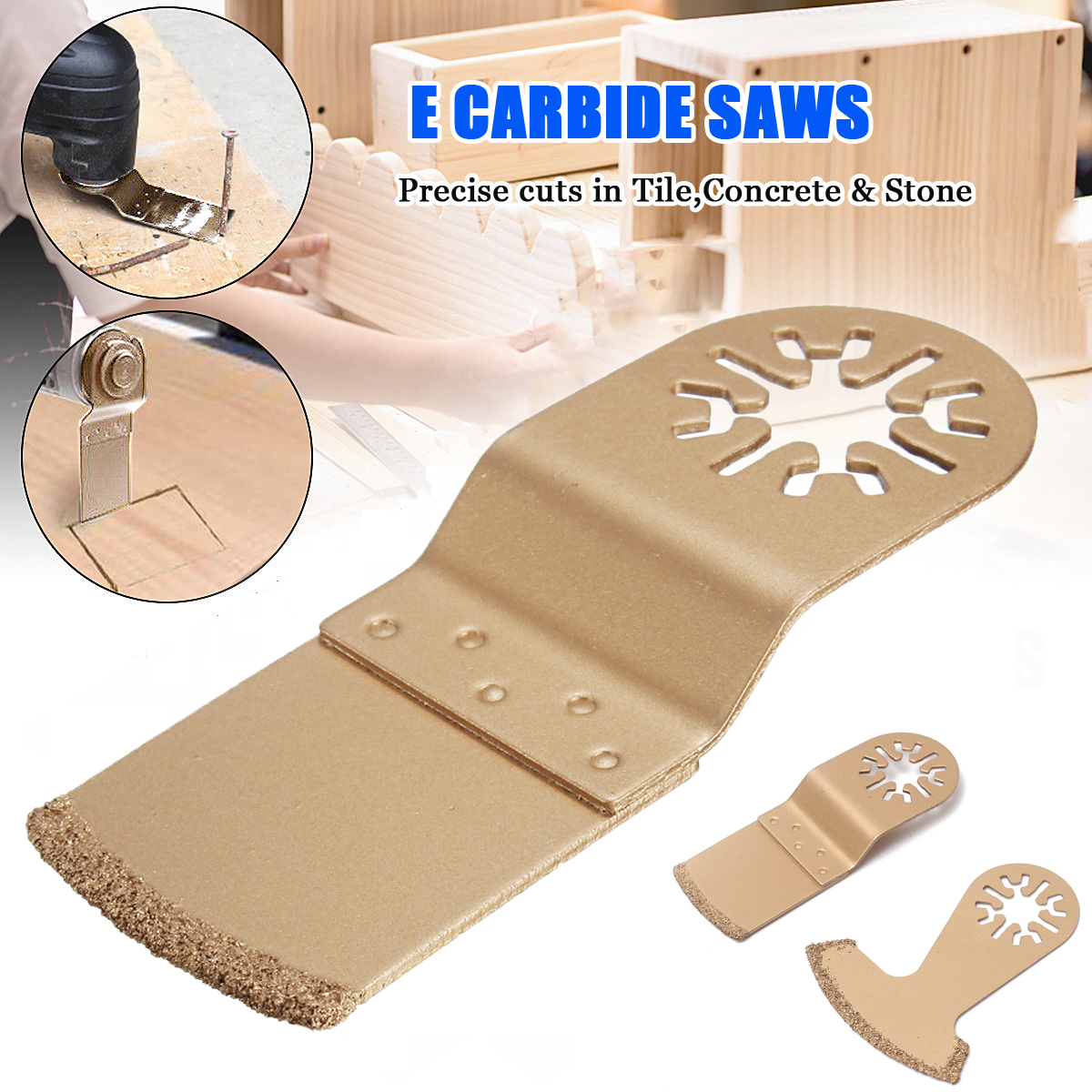 New Arrival 1pcs Diamond Carbide Oscillating MultiTool Saw Blade Fits Fein Multimaster Gold Metal Cutting Tool Wood Cutter