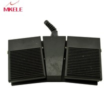 MKTFS1-2H Factory direct Nonslip SPDT NO/NC 2015 new design popular hot sale CE black Rubber Surface double pedal foot switch
