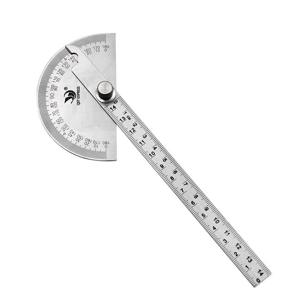 14CM Protractor Angle Gauge Stainless Steel 180 Semicircle Degree
