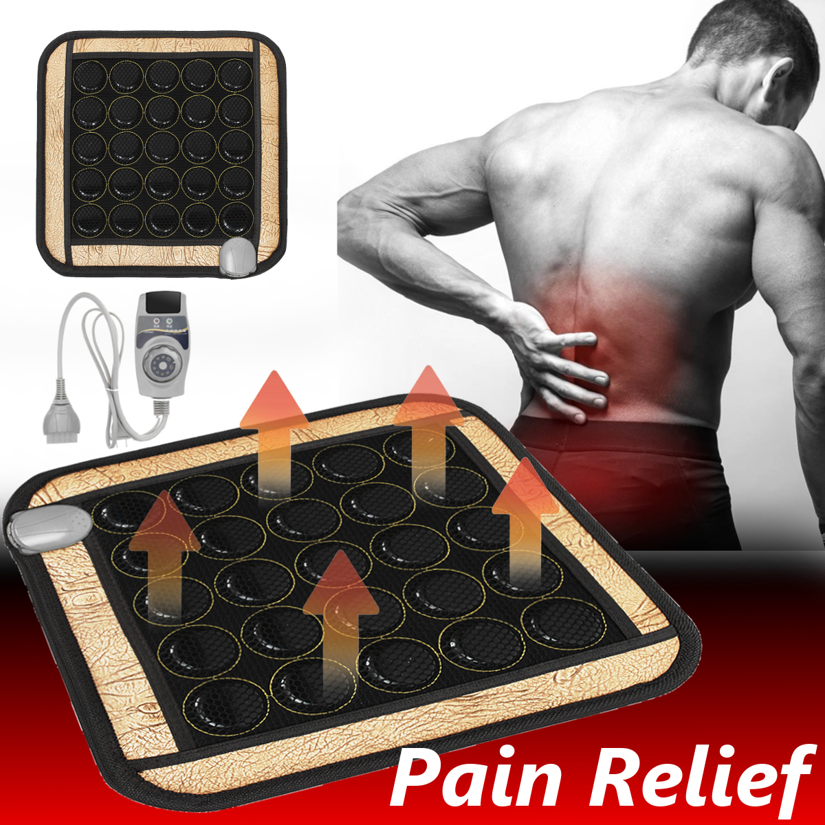 HealthCare Jade Physiotherapy Heating Pad Far Infrared Heating Therapy Natural Jade Stone Mat Office Chair Mattress 45X45CM 220V