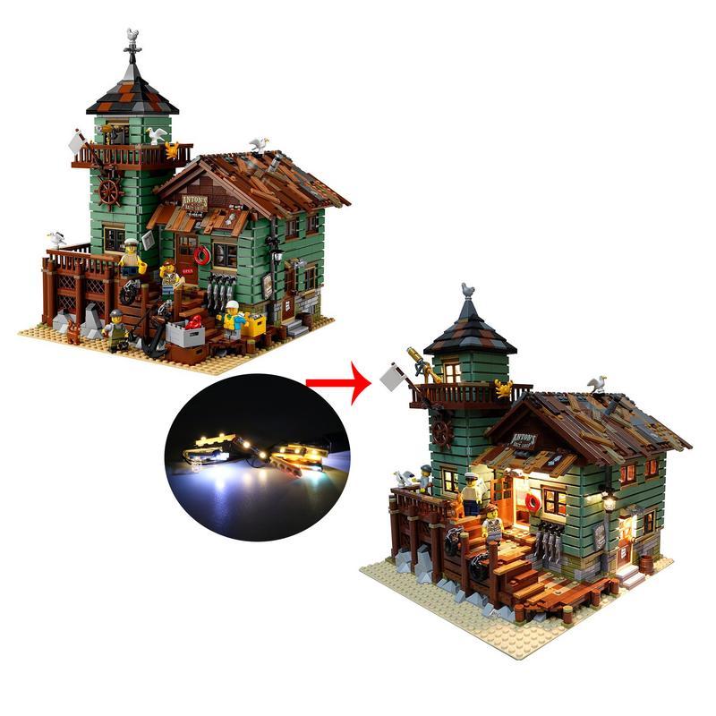 LED Light Lighting Kit ONLY For Lego 21310 Fishing Store Building Blocks USB