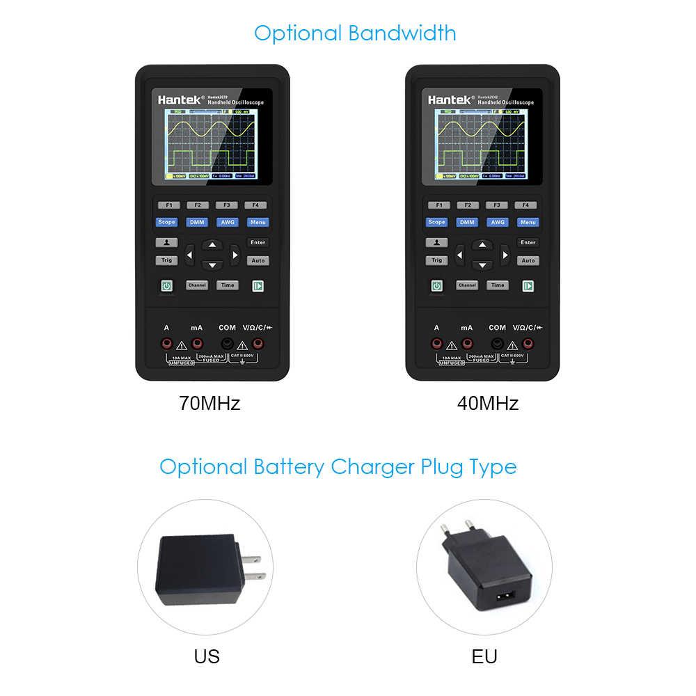 2 في 1 ملتقط الذبذبات الرقمي + المتر 2 قنوات USB Scopemeter المحمولة نطاق متر 40 ميجا هرتز 70 ميجا هرتز عرض اختبار متر