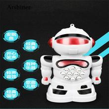 2018 New Learning Music Robot  Toy Early Unisex  Story Educational Mini Flash Creative Children Machine