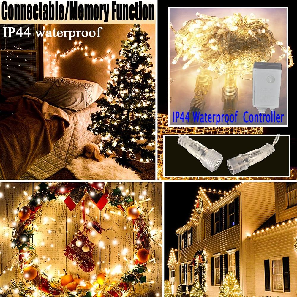 Memory Function Controller LED String Light 10M 20M 30M LED String Light LED Fairy Light Waterproof D25 in LED String from Lights Lighting