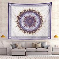 Индийская МАНДАЛА ГОБЕЛЕН макраме Настенный полиэстер с цветочным принтом Бохо Декор колдовство настенный гобелен из ткани ковер одеяло