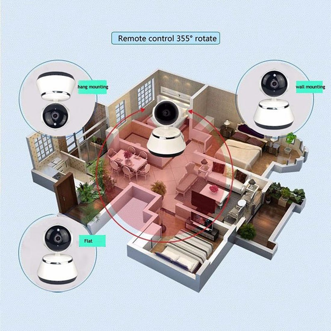 Image 5 - V380 Phone APP HD 720P Mini IP Camera Wifi Camera Wireless P2P Security Camera Night Vision IR Robot Baby Monitor Support(SD C-in Baby Monitors from Security & Protection