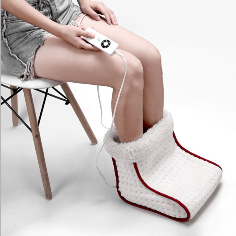 Livraison rapide épaissie Confortable chauffe-pieds couverture d'hiver électrique chauffée chaude chaussures Super doux pied main chauffe-pieds Pad