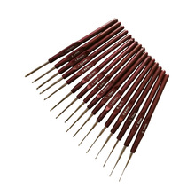 Needle arts craft Weaving tool jewelry Sewing Needles fine lace crochet set of 16 pieces full in bags 0.5-2.5MM AQ044