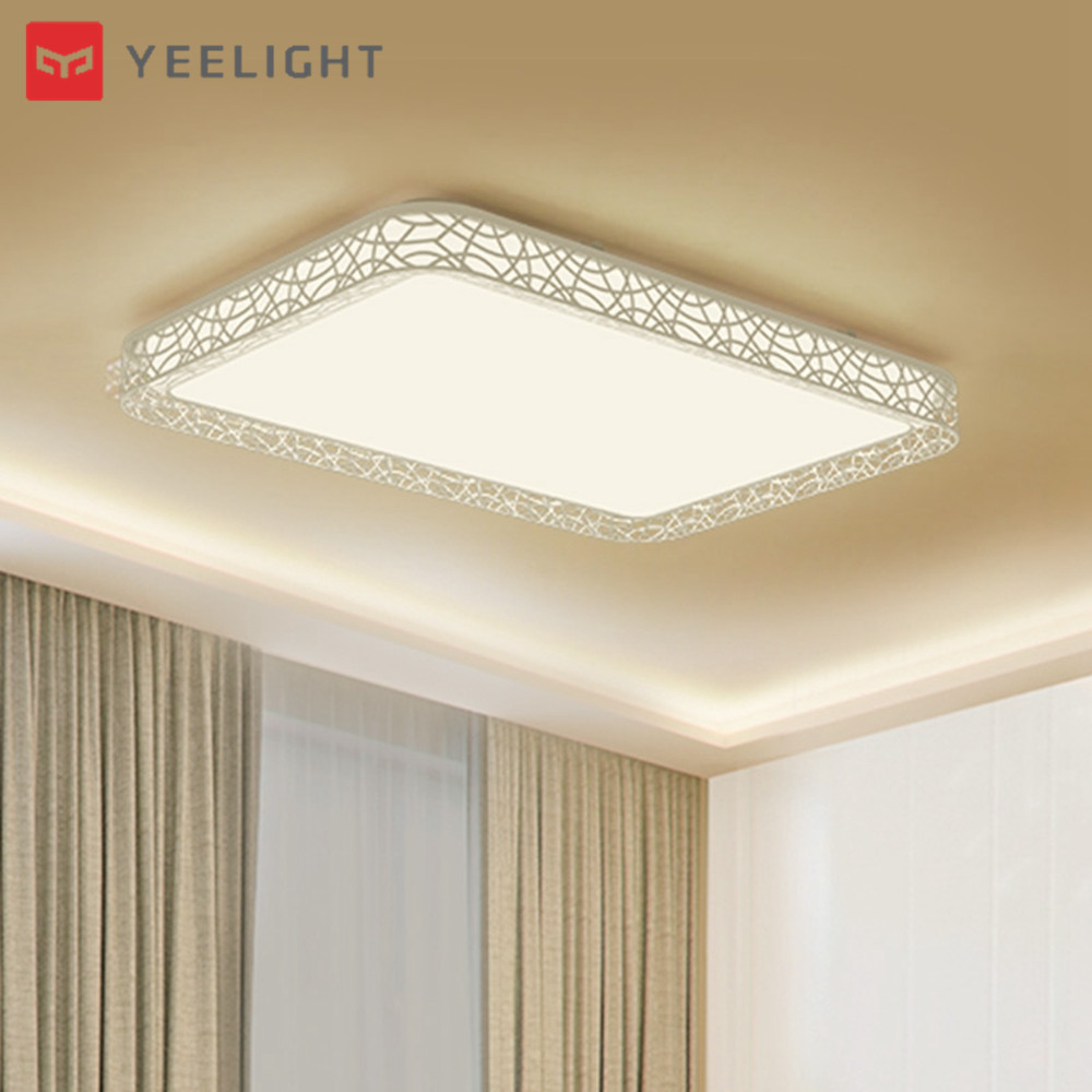 Xiaomi Yeelight YILAI YlXD07Yl 110W Rectangle Style Hollow LED Ceiling Light Pro for Home AC220 240V