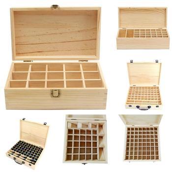 15/26/64/70 Holes Essential Oils Wooden Box 5ml /10ml Bottles Club Aromatherapy Storage Case Organizer Container