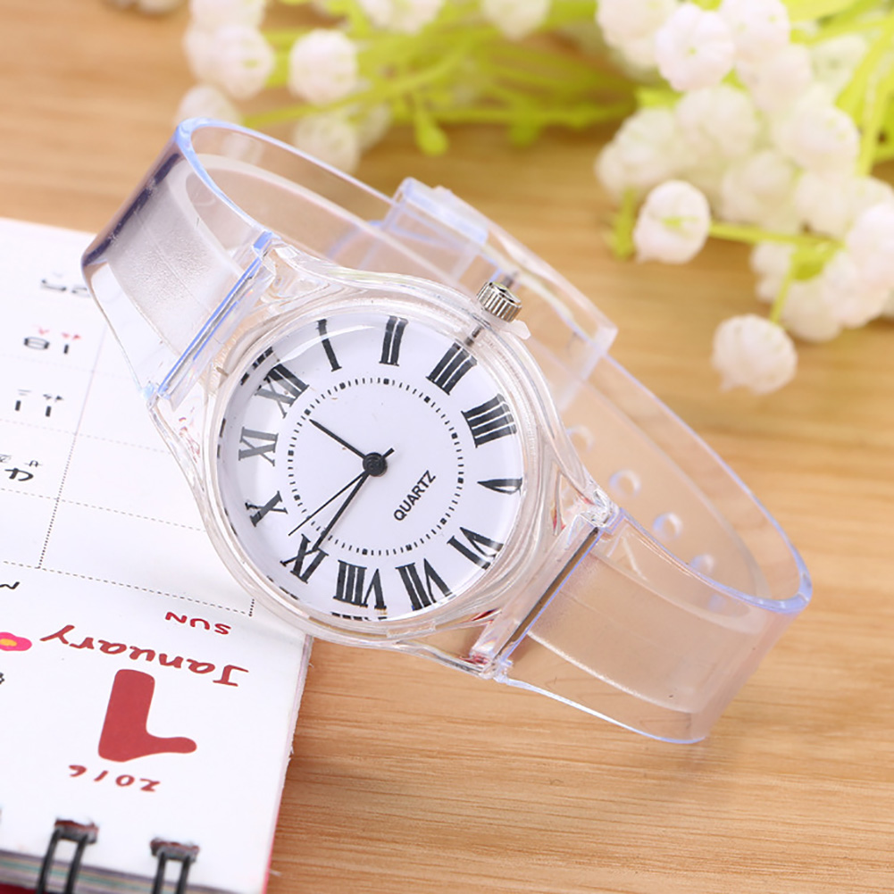 High Quality Crystal Watch Cartoon Novelty Transparent Silicone Strap Classic  Student / Women Wrist Quartz Watch