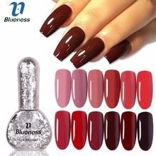 hot deal buy blueness  nail gel polish 6ml coffee series nail art design gel uv/led gel polish varnish for nail art soak-off gel nail polish