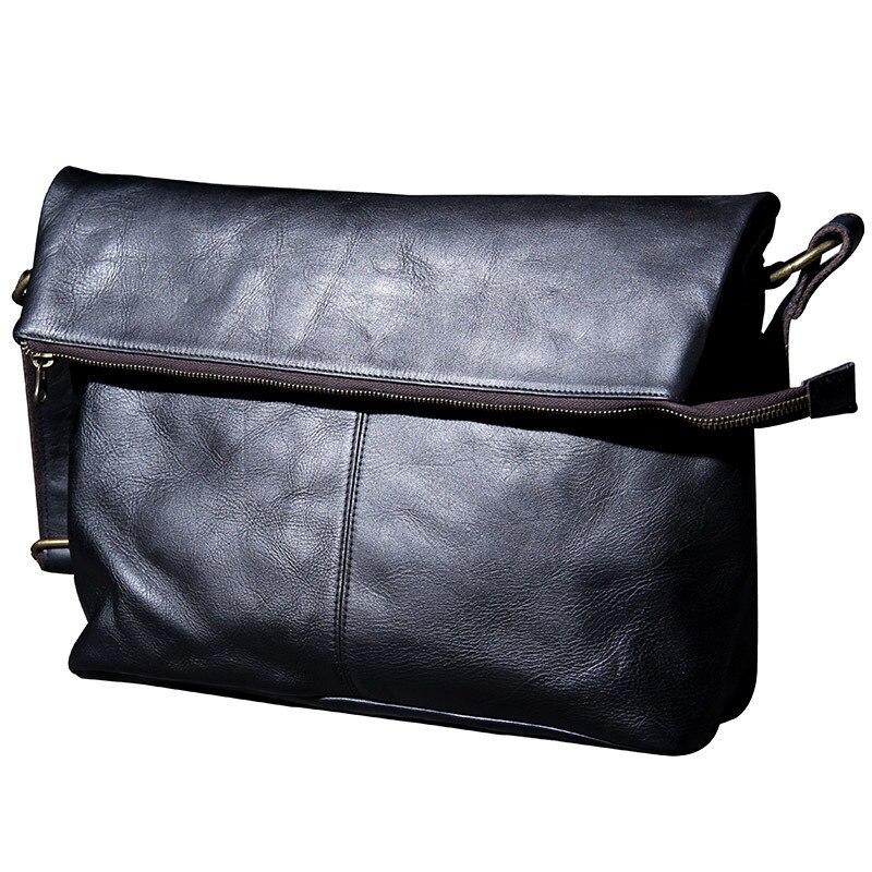 Große Taschen Leder Echtes Schulter Tasche Umhängetaschen Casual Kapazität Messenger Business Rindsleder Männer Mann Reisetasche 1wdzxCOqw