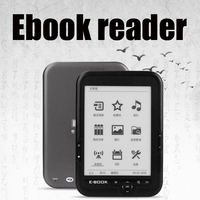 CLATE 6 Ebook Reader e ink Capacitive E Book Light Eink Screen E Book E ink E Reader MP3, WMA PDF HTML