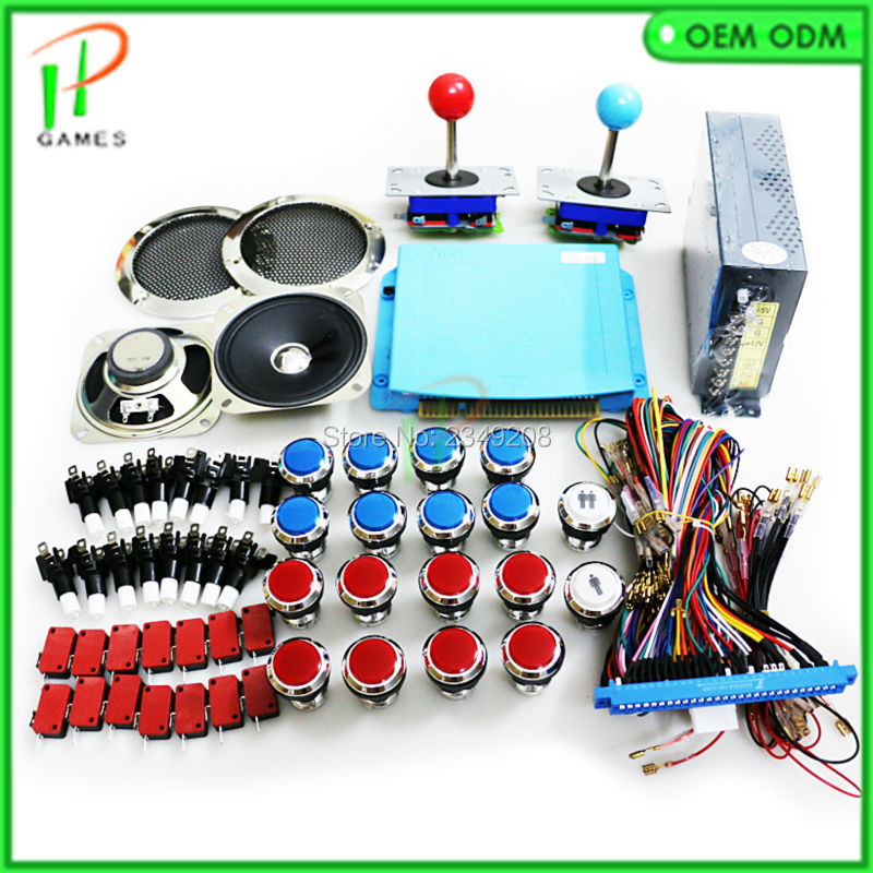 JAMMA Arcade mame DIY KIT for 1299 in 1 game board PCB joystick push button Wire