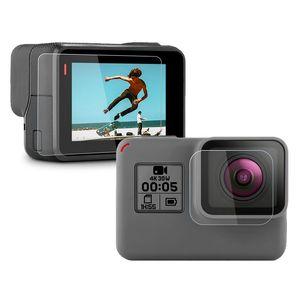 Image 2 - ป้องกันหน้าจอสำหรับGoPro 8 Hero7 สีดำ 6 5 2020 อุปกรณ์ป้องกันฟิล์มกระจกนิรภัยสำหรับGoPro 8 HERO 7 6 กล้อง