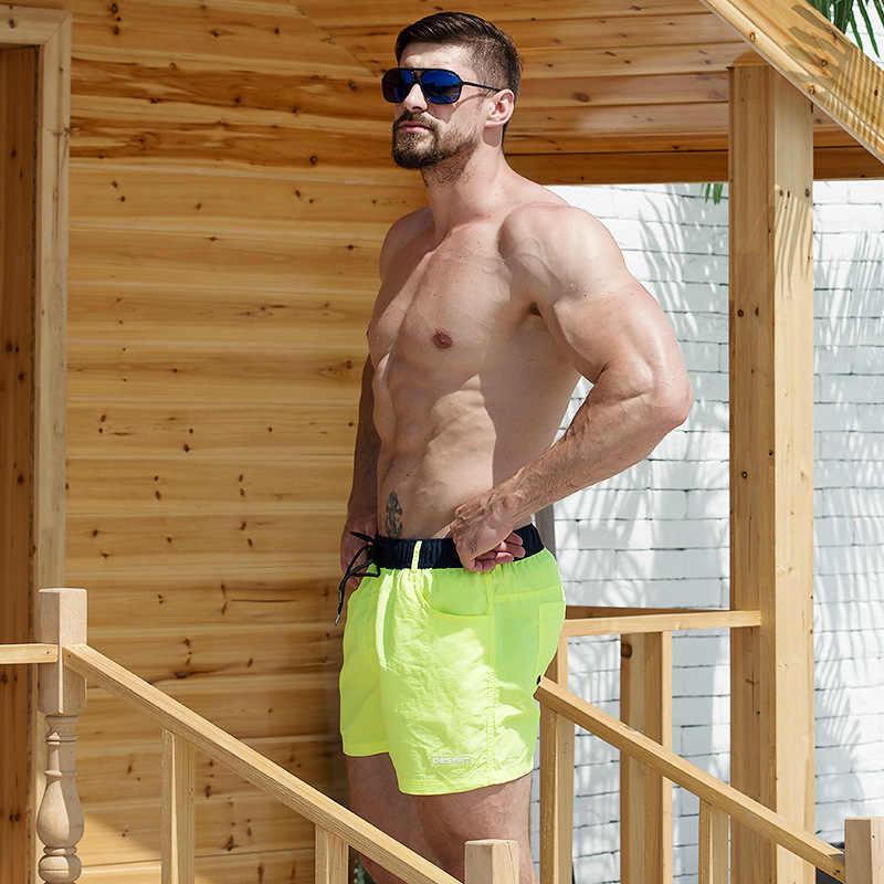 Desmiit Bademode Männer Schwimmen Shorts Badeanzug Wasserdichte Männer Badehose Surfen Bademode Boxer Briefs Sunga Bord Strand Shorts