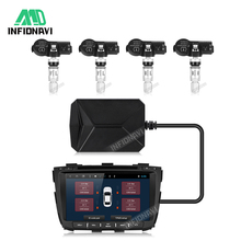 Car TPMS Tire Pressure Monitoring System For Android Radio Player 433.92MHz Wire