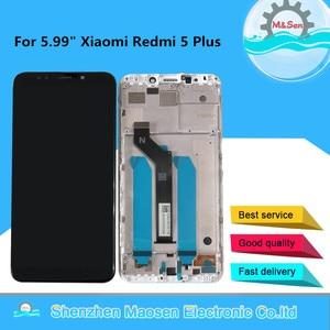 """Image 1 - 5.99 """"オリジナル m & セン xiaomi redmi redmi ための 5 プラス lcd スクリーンディスプレイタッチデジタイザーフレーム 5 プラス lcd ディスプレイタッチスクリーン"""