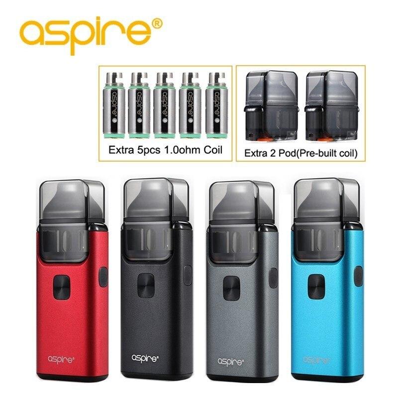 Cigarette électronique aspire Brise 2 Vaporisateur Pod Système 1000 mah Starter Kit Utiliser 0.6ohm et 1.0ohm Remplaçable Bobine Soutien Nic sel