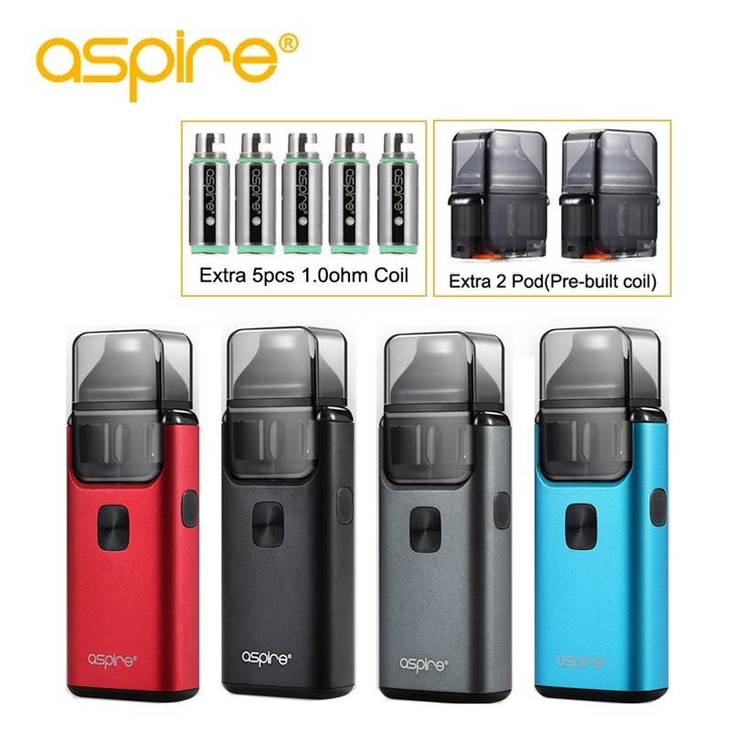 Electronic Cigarette aspire Breeze 2 Vape Pod System 1000mah Starter Kit Use 0.6ohm and 1.0ohm Replaceable Coil Support Nic SaltElectronic Cigarette aspire Breeze 2 Vape Pod System 1000mah Starter Kit Use 0.6ohm and 1.0ohm Replaceable Coil Support Nic Salt