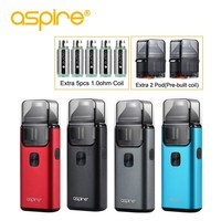 Electronic Cigarette aspire Breeze 2 Vape Pod System 1000mah Starter Kit Use 0.6ohm and 1.0ohm Replaceable Coil Support Nic Salt