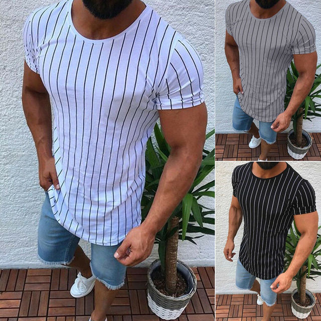 High Quality Men T shirt Casual Short Sleeve O-neck 100% Cotton