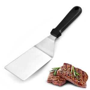 Scraper Shovel Flipper Grill Kitchen Spatula Plastic-Handle BBQ Pancake Stainless-Steel