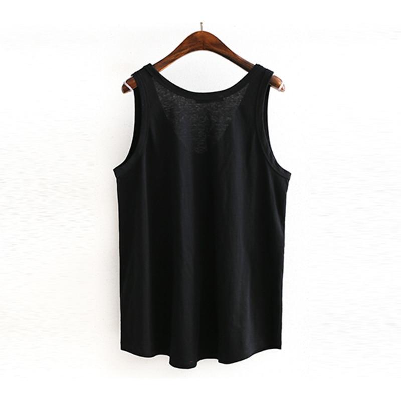 CHICEVER Spring V Neck Vest Top For Women Patchwork Pocket Loose Slim Female Tank Vests 2019 Fashion Casual Clothing