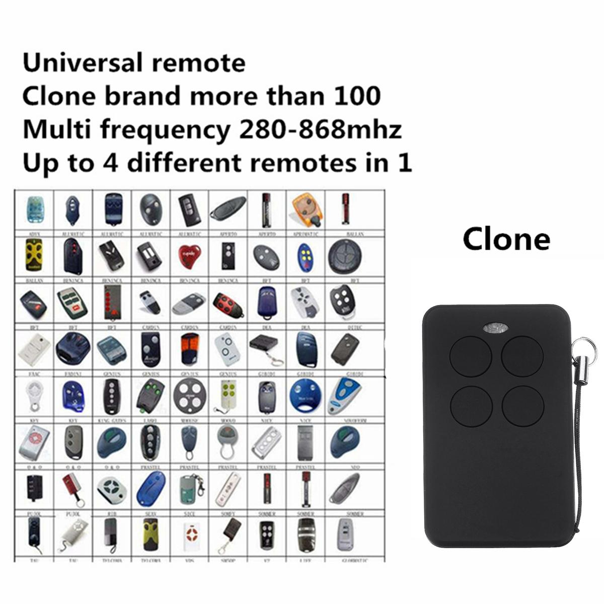 Universal Multi frequency copy 280-868mhz rolling code garage door remote control duplicator Fixed Rolling Code Garage Door v2 phoenix contr 47 433 92mhz rolling code remote control copy