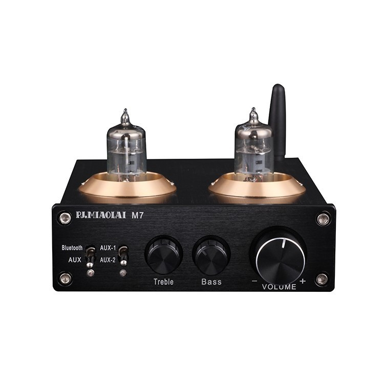 New M7 BTM625 Bluetooth 5.0 6J1 Vacuum Tube Preamplifier Join the DAC ESS9023 Stereo high and low tone HiFi <font><b>audio</b></font> <font><b>pre</b></font> <font><b>amplifier</b></font> image