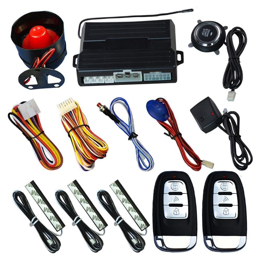 Nouveau système d'alarme de voiture passif sans clé un bouton de démarrage système de contrôle à distance verrouillage Central automatique bouton poussoir de démarrage arrêt automobile